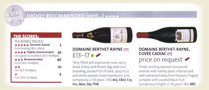 Commentaires de Decanter